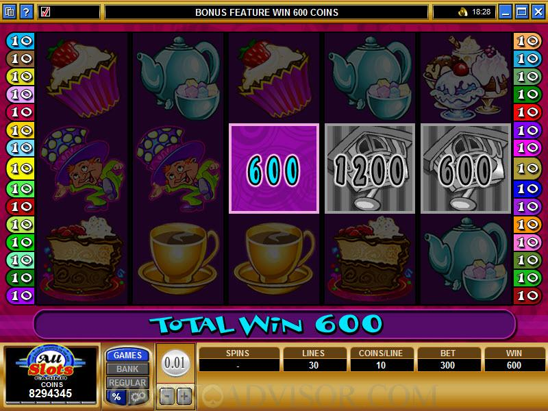 Mad Hatters slot game