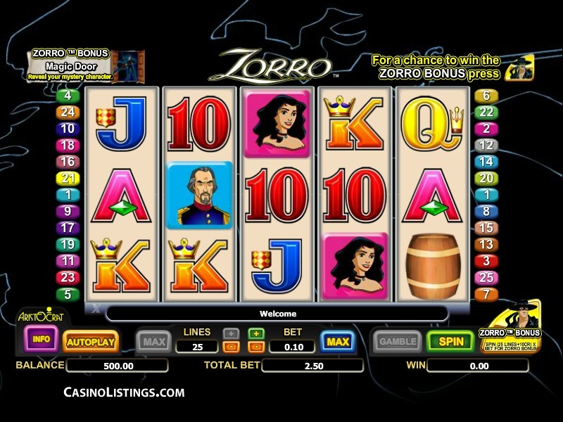 Zorro slot game